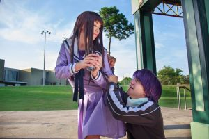 Hiyoris Takes Yato's Drink [Noragami Cosplay] by firecloak