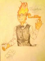 Undertale: Grillby by Melomiku