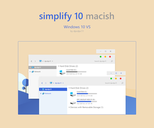 Simplify 10 Macish - Windows 10 Theme by dpcdpc11