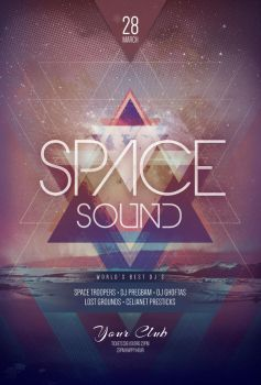 Space Sound Flyer by styleWish