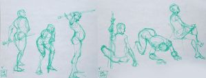 Life Drawing - May 2017 by Gizmoatwork