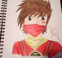 ninjago Kai by sammiethehedgehog13