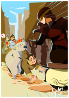 Korra and Friends by ayubee