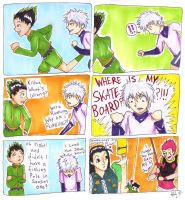 HunterXHunter: Where's my skateboard?! by Checker-Bee