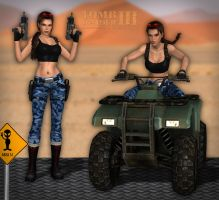 Lara Croft TR3 - Nevada by Larreks