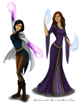 Art Trade Female Mages by Aztarieth