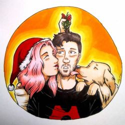 Markiplier Caught Under The Mistletoe  by InnuDoggy