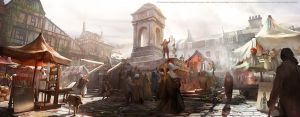 Assassins creed Unity : Quartier Latin market by nachoyague