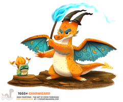 Daily Painting 1668# - Charwizard by Cryptid-Creations