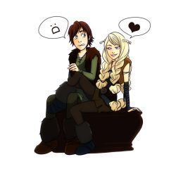 HTTYD - Hiccup and Ruffnut by gabzillaz