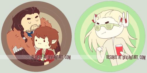 hobbit buttons I by resubee