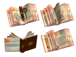 Fantasy Books PNG Stock by Roy3D
