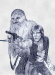 Chewbacca and Han Solo by sfairbanks