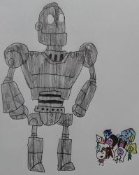 Gems Meet the Iron Giant by SithVampireMaster27