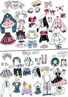 Custom Mix and Match outfits 4 by Guppie-Vibes