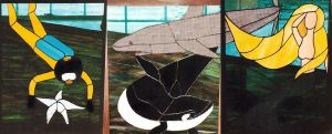 Water Scene in Stained Glass by CarolynYM