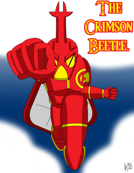 The Crimson Beetle - Redraw. by FireballDragon