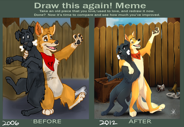 Draw this again meme by Skeleion