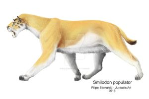Smilodon populator by FilipePicasso
