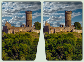 Muehlburg in Thuringia 3-D / Stereoscopy / HDR by zour