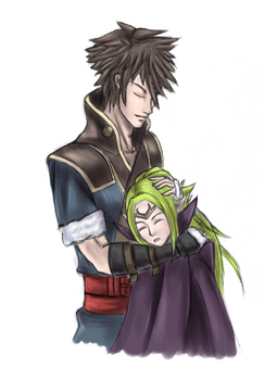 Lonqu and Nowi Gift by aznswordmaster1