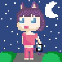 my first pixel art ^^ by Pink-Sanity