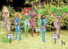 Ivy and Harley in the Desert Garden (Kyo) by macguffin78