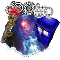 Doctor Who Tattoo Design by ItsMeAgainstTheWorld