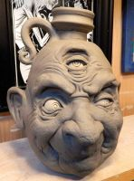Old man with a wandering third eye Jug- WIP by thebigduluth