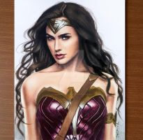 Colored Pencil Drawing of Wonder Woman by JasminaSusak