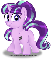 Starlight Glimmer button design (Equality variant) by AleximusPrime