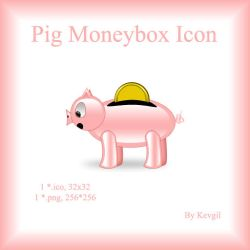 Pig Moneybox Icon by Kevgil