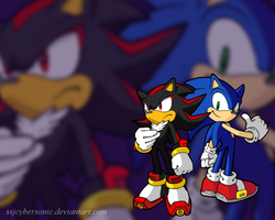 Sonic and Shadow Wallpaper by SSJCyberSonic