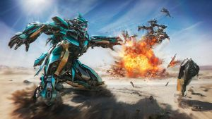 Turquoise Autobot (Transformers) by SanyLebedev