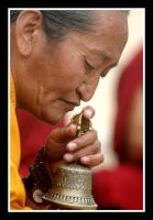monk with bell by chinlop
