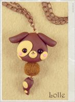 Clay Flurry Dog by LolleBijoux