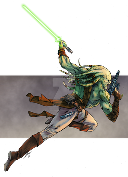 Kit Fisto - Tofuthebold colors by SpiderGuile