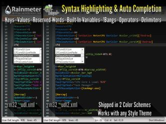 Rainmeter Syntax Highlighting Auto Completion NP++ by schulabschluss