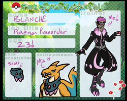 Blanche Trainer Card by CannibalHarpy
