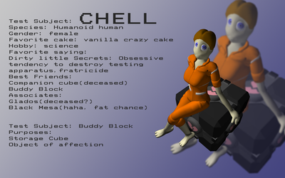 test subject: chell by 1337933535