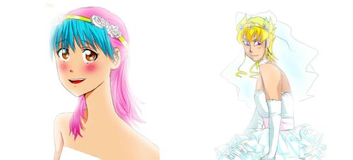 Weddings and dresses and also Jack Atlas by MagicalPokomiChan