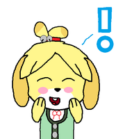 Excited Isabelle by GeotheFox