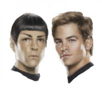 Kirk and Spock by CaliAli16