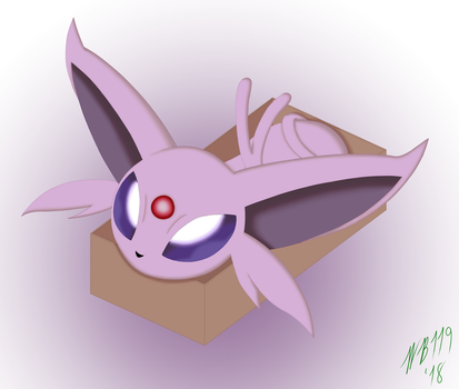 Espeon in a Box by Whitebaron119