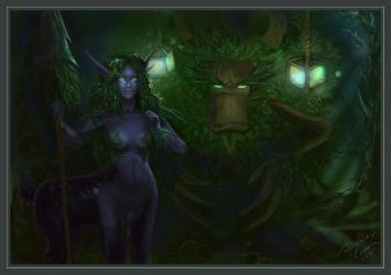 Dryad in a Forest by tooniegirl