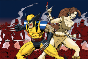 Wolverine and Mio Commission by MightyFooda