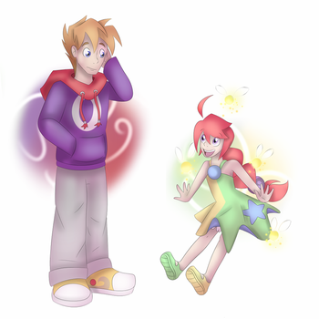 [Gift] CBNS: Rayman and Kid Betilla by Dragon-RainbowBeanie