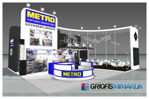 METRO Exhibition Stand 3D by GriofisMimarlik