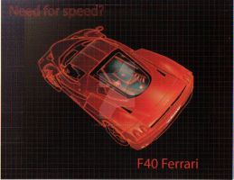 F40 Ferrari Car Design Project by wolf-girl87