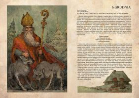 Santa Claus and wolves by Hetman80